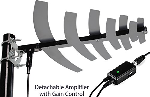 pingbingding HDTV Antenna Amplified Digital Outdoor Antenna with Detachable Amplifier Signal Booster For UHF, Tools-free installation