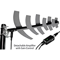 pingbingding HDTV Antenna Amplified Digital Outdoor Antenna with Detachable Amplifier Signal Booster For UHF,50 Miles Range,Tools-free installation