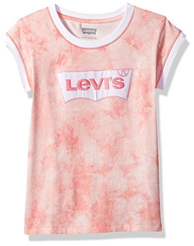(Levi's Girls' Big Batwing T-Shirt, Strawberry Pink, M)