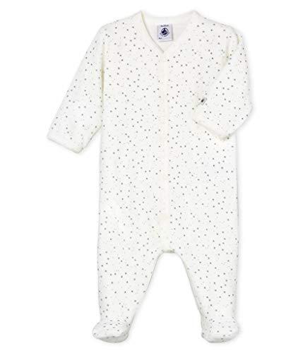 - Petit Bateau Unisex Baby Velour Sleepsuit White