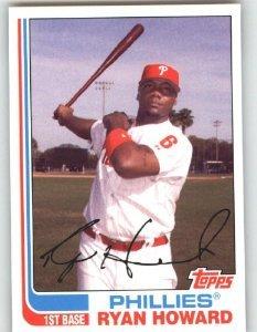 2008 Topps Trading Card History # TCH26 Ryan Howard - Philadelphia Phillies - MLB Baseball Trading Card ()