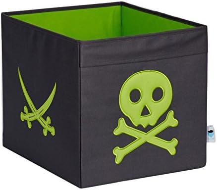 STORE.IT 671923 – Caja de almacenaje Abierto, Caja, Apto para Kallax, Expedit, poliéster, 38 x 32 x 32 cm, Pirata, Gris y Verde: Amazon.es: Hogar