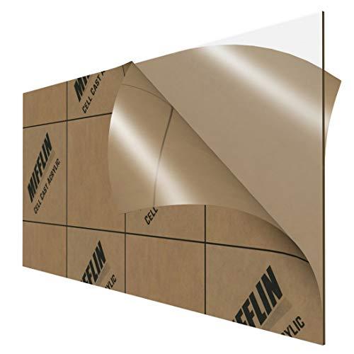 "MIFFLIN Cast Plexiglass Sheet (Transparent Clear, 1 Piece, 12 x 24 Inch, 0.118"" (1/8 in) Thick), Acrylic Sheet, Plexi Glass, Plastic Sheet, Clear Plastic Sheet, Cast Acrylic Plexiglass"
