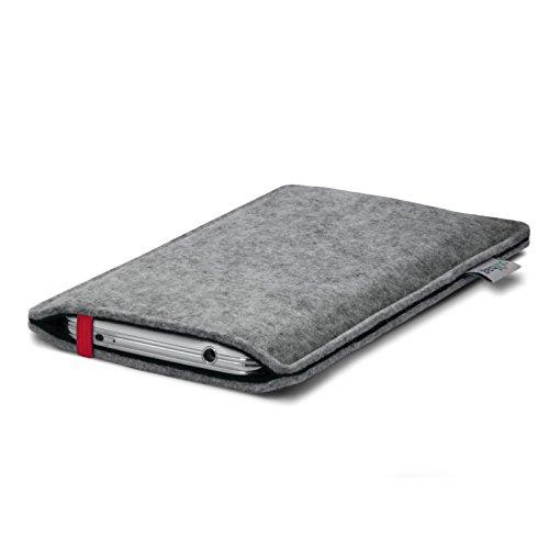 Stilbag Etui Feutre 'LEON' pour Apple iPhone 3Gs - Couleur: rouge-gris