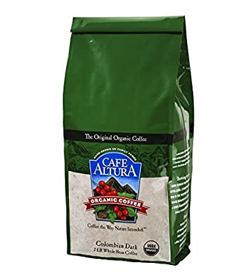 Cafe Altura Whole Bean Organic Coffee, 2 Pound