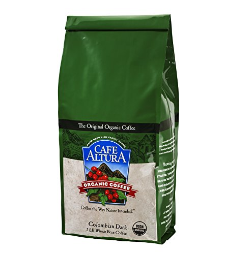 Cafe Altura Organic Coffee, Colombian Dark, Whole Bean, 32-Ounce Bag