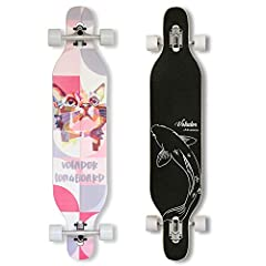 The Volador 42-Inch Freeride longboard has some revolutionary techs in skateboard engineering. Cold pressed 8-ply hardrock maple is strong enough to hold 220 lbs, while symmetrical camber concave deck is shock absorbent, super flexible, and s...