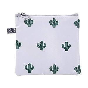 Celiy Girls Portable Zipper Sanitary Napkin Bag Waterproof Storage Bag Coin Purse