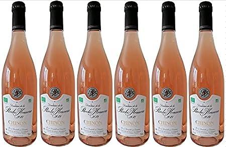 Chinon Bio 2018 - Vino Rosado seco AOC - en un set de 6 botellas de 75cl.