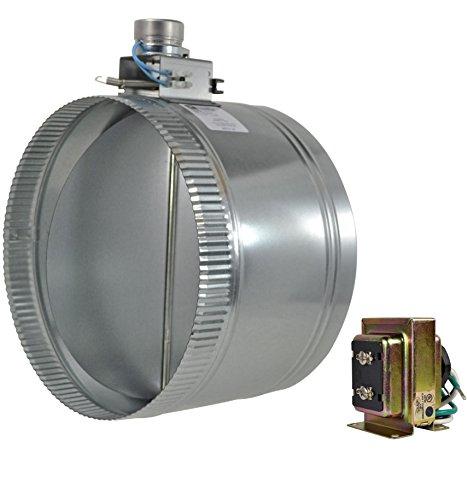 """ZO212 12"""" normally open adjustable damper - Diameter Motorized Damper"""