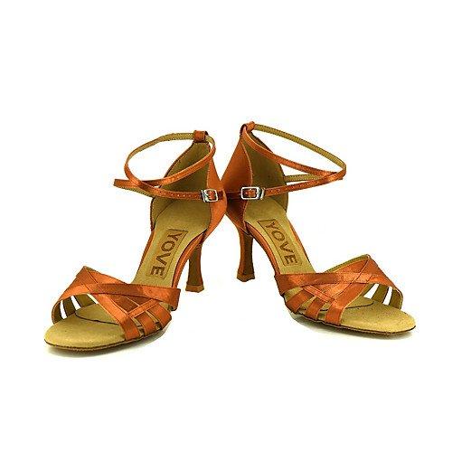 Bronce Las de profesión de Baile Q Bronce Mujeres Zapatos de la T de T qwOUzz