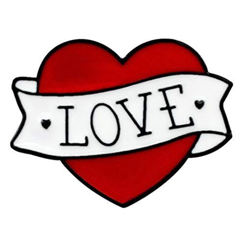 Flairs New York Premium Handmade Enamel Lapel Pin Brooch Badge (True Love Heart, 1 Pin)