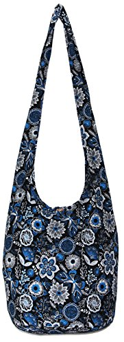 Flower Bohemian Hippie Hipster Hobo Boho Crossbody Shoulder Bag (DarkBlue) by All Best Thing