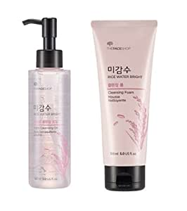 [The Face Shop] Rice Water Bright Cleansing (Oil 150ml + Foam 150ml) 2pcs For All Skin Types