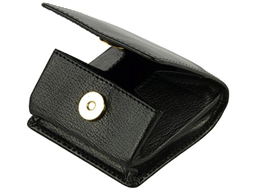 Black Brown Mens VISCONTI Quality Milano or Ladies COIN PURSE LEATHER from Black RxHgcpwqCR