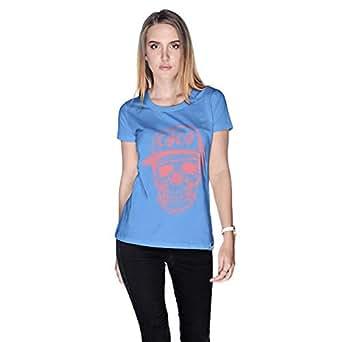 Creo Watermelon Coco Skull T-Shirt For Women - S, Blue