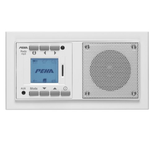 Peha MP3 Unterputz-Radio AudioPoint im Nova-Design ohne Funksender, Rahmen reinweiß