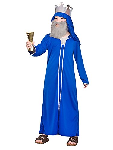 Wise Man Costume Uk (Childs Nativity Wise Man Caspar Christmas Fancy Dress Costume)
