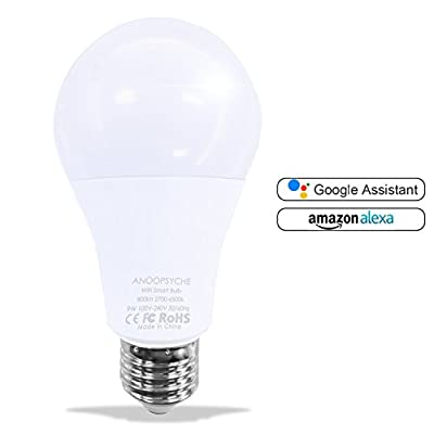 Smart Bulb LED WiFi Smart Switch Compatible with Alexa Google Home Assistant