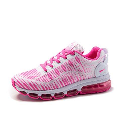 Onemix Air Zapatillas De Running Deportes para Hombre Mujer Gimnasio Correr 2017 negro blanco Rosa