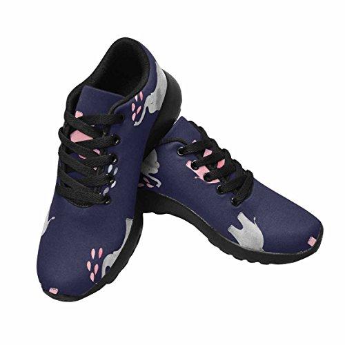 Scarpa Da Jogging Leggera Da Donna Running Running Leggera Easy Go Walking Comfort Sportivo Scarpe Da Ginnastica Carino Modello Di Elefanti Acquerello