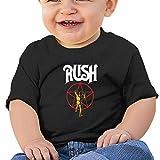 EVE JOHN Rush Band Logo Tee Comfortable T-Shirts
