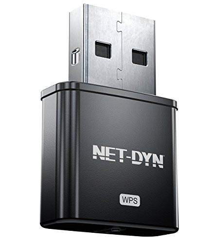 USB Wireless WiFi Adapter 300Mbps, Mini WiFi Adapter Network Card with Internal Antenna, Twice the Strength of the Standard Mini Wireless Internet Dongle, by NET-DYN