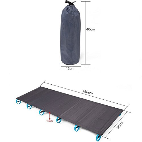 Trails Base Camp Cot - Comfortsmart Camping Cot - Ultralight Compact Folding Camping Tent Cot Bed