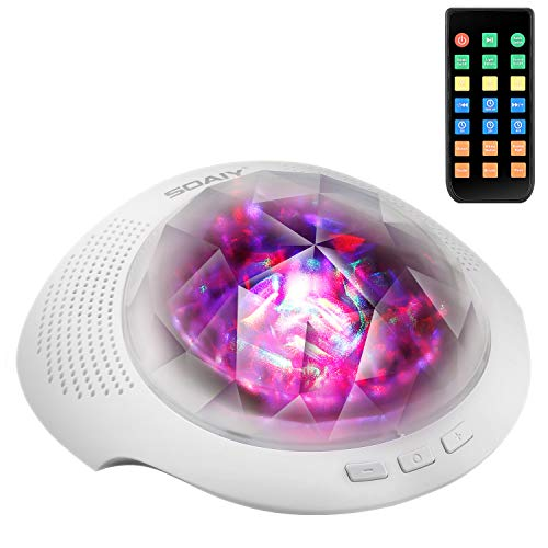 ht Light & Sleeping Sound Machine With Remote, Timer, Built in Bluetooth Speaker for Kids, White ()