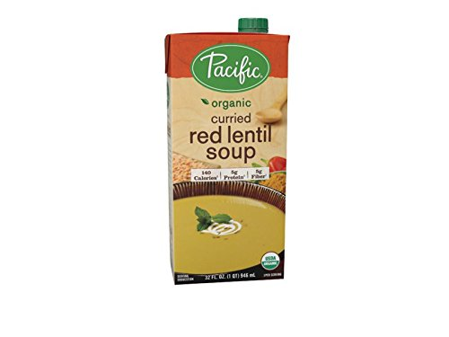 East Lentil - Pacific Foods Soup, Curried Red Lentil, 32-Ounce Cartons (Pack of 12)