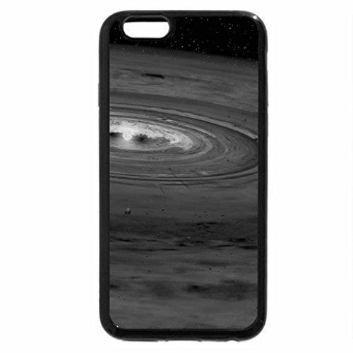 iPhone 6S Case, iPhone 6 Case (Black & White) - solar system sun