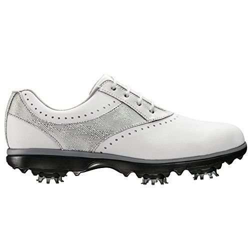 FootJoy Women's Emerge Golf Shoe White/Silver Flake Size 9.5 M US