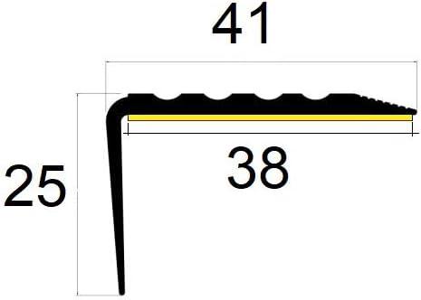 descalier-protection bande de bordure Nez de marche profil d/'angle PVC autoadh/ésif 50x40mm antid/érapant 90cm Beige