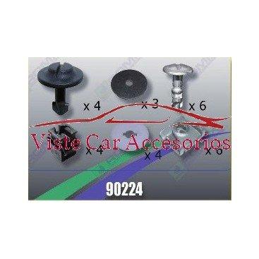 Rezaw - Plast Tornilleria y Clips para Cubrecarter 90224 Rezaw Plast