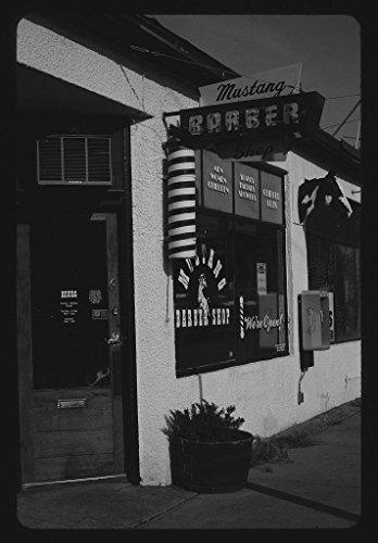 (Vintography 8 x 12 BW Photo of: Mustang Barber Shop, Billings, Montana 2004 Roadside America Margolies, John, 66g )