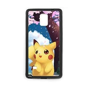 Pokemon Pikachu funda Samsung Galaxy Note 4 Cell Phone caso funda V1U7VPHMWB negro