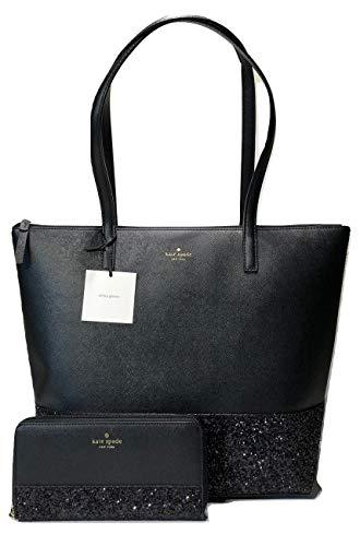 Kate Spade New York Greta Court Penny WKRU5613 Bundled with Matching Neda Wallet WLRU5217 (Black)