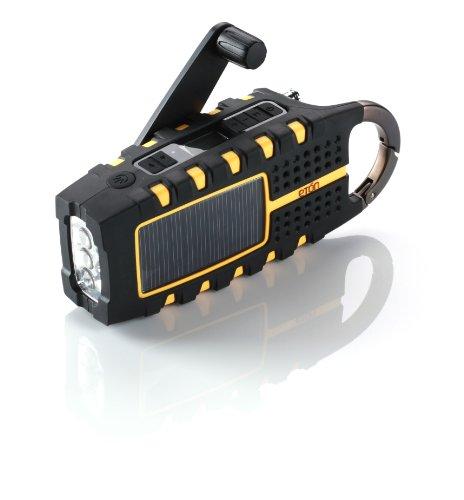 Eton SCORPION Multi-Purpose Solar Powered Digital Weather Radio - Orange (NSP100OR)