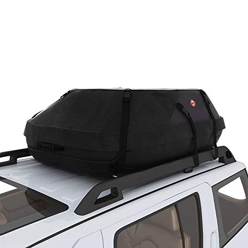 (adakiit Car Roof Bag Top Carrier Cargo Storage Rooftop Luggage Waterproof Soft Box Luggage Outdoor Water Resistant for Car with Racks,Travel Touring,Cars,Vans, Suvs (20 Cubic Feet))