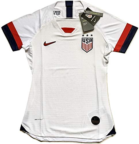6dfe52ba9 Enevva Women's USA National Team 2019-2020 Home Authentic Vapor Match  Soccer Jersey White (Women's Medium)