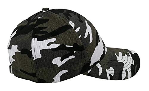 Always Eleven Cotton Baseball Hat with Satin Lining (Camouflage) ()
