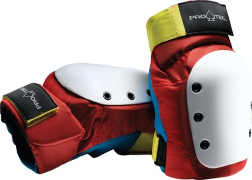 Pro-Tec Street Knee Pads [X-Large] Retro Red/Blue/Yellow