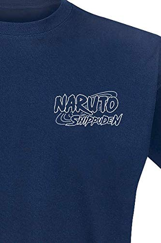 Abystyle Naruto di Tshirt Navy Homme Shippuden Uchiwa v0f6q