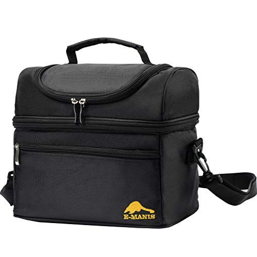 E-MANIS Insulated Lunch Bag Lunch Box Cooler Bag with Shoulder Strap for Men  Women Kids  Adults Meal Prep Bag Lunch Tote Waterproof (black2) - Buy  Online in ... f7db610218aae