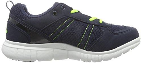 Chung Shi Duxfree Nassau - Zapatillas de Running de Material Sintético Niños^Niñas azul (Navy/Lime)