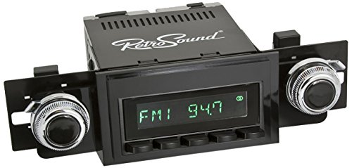 RetroSound HB-111-51-74 Hermosa Direct-Fit Radio for Classic Vehicles (Black Face and Buttons and...