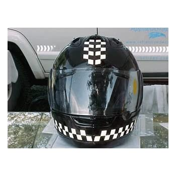 Amazoncom Reflective Motorcycle Helmet Decal Kit Checkers - Custom motorcycle helmet decals