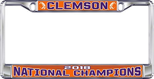 Clemson Tigers Domed 2018 National Champions License Plate Frame ()