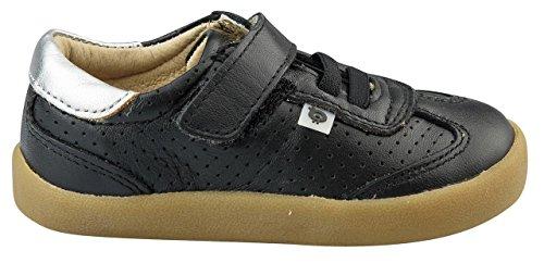 Old Soles Boy's Mr Lee Hook and Loop Closure Sneakers (Black/Silver, 25 M EU/9 M US Toddler) by Old Soles (Image #1)