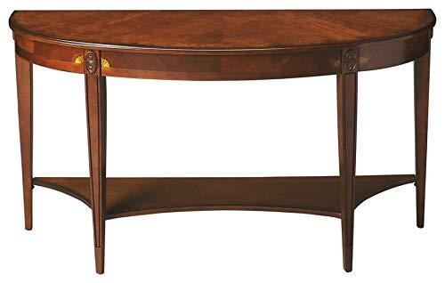 Ash Console - BUTLER 4146101 ASTOR OLIVE ASH BURL DEMILUNE CONSOLE TABLE